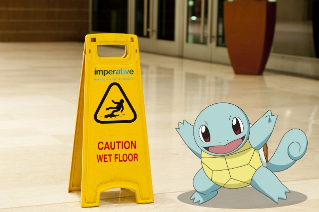 Squirtle Wet Floor large